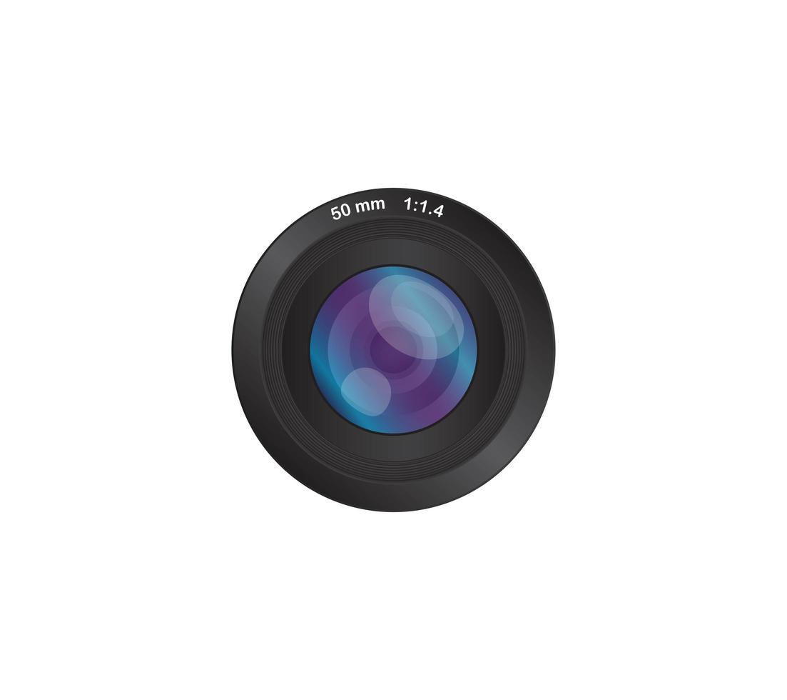 camera fotolens 50 mm vector