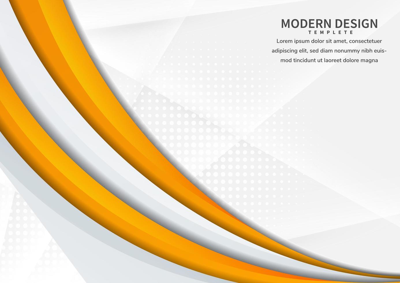 banner met gele gebogen vorm op witte abstracte achtergrond vector