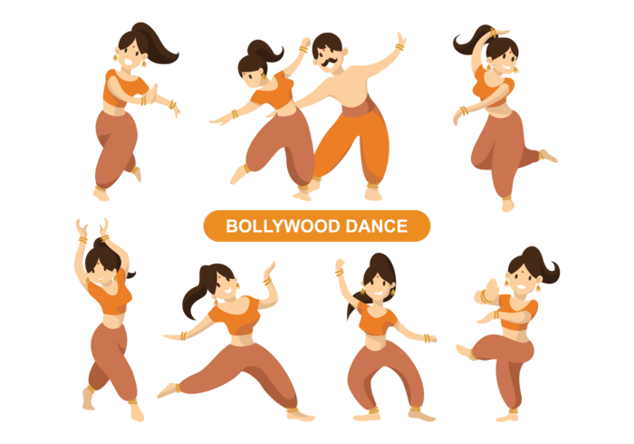 Indische Bollywood Dancing Vector