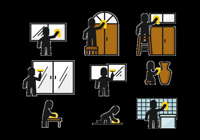 Plak het Stickman-pictogram vector