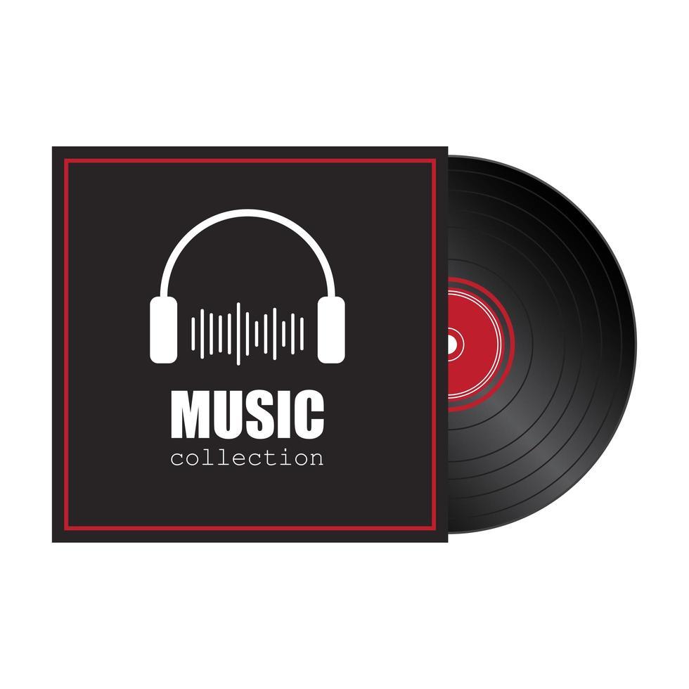 vinyl record geïsoleerd vector