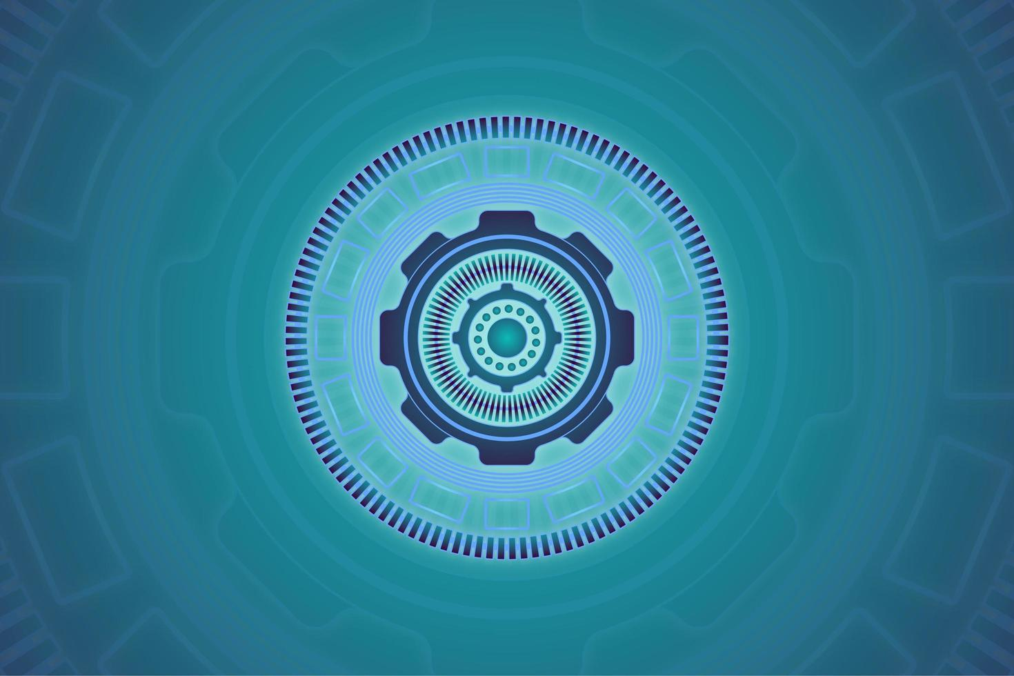 abstract blauw cirkel technologieontwerp vector