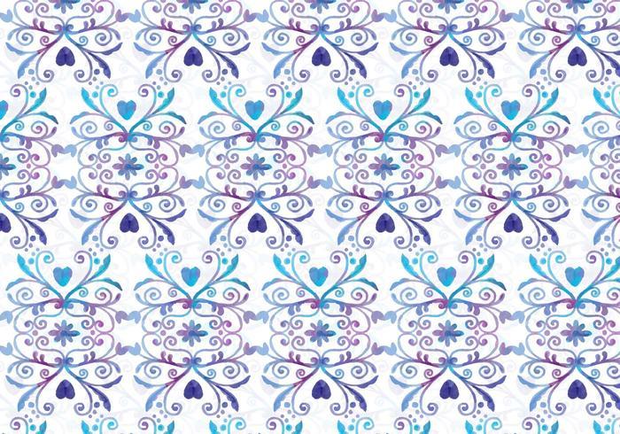 Blauwe en Purpere Vector Waterverf Koninklijke Achtergrond