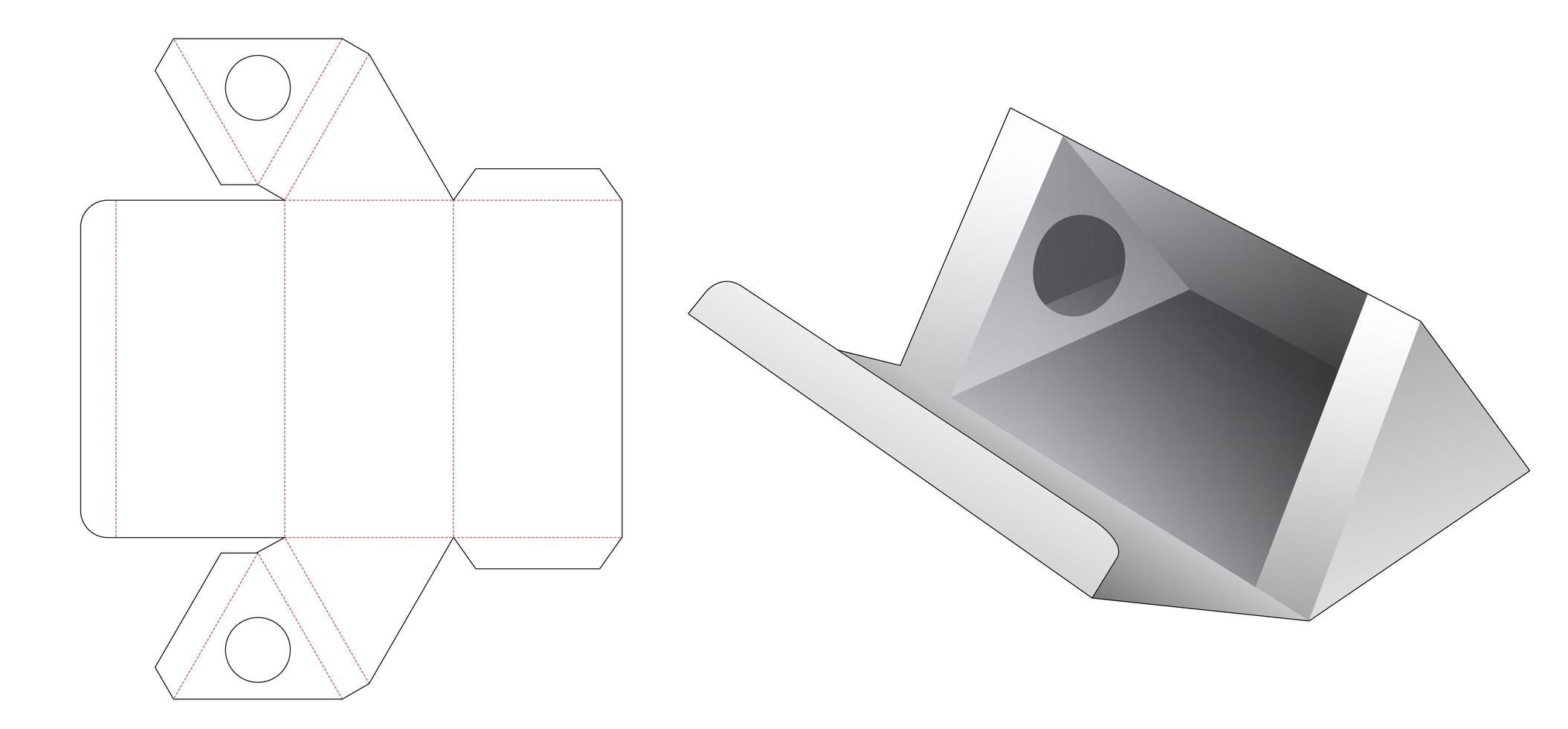 driehoekige cosmetische doos met supporter vector