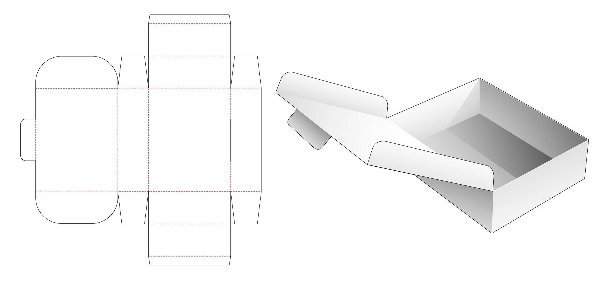 opvouwbare flip-box vector