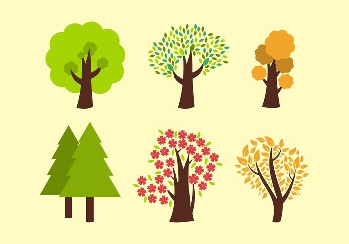 Zes Vector Bomen