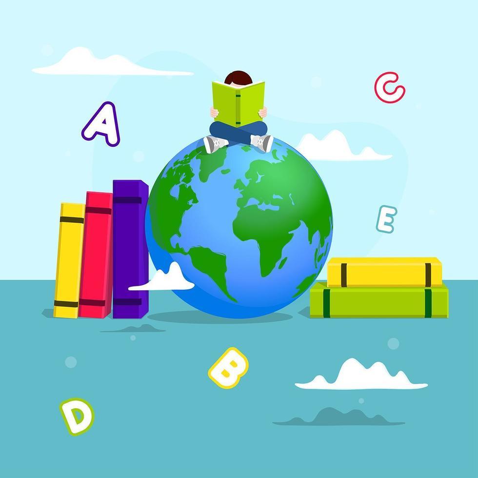 alfabetiseringsdag posterontwerp vector