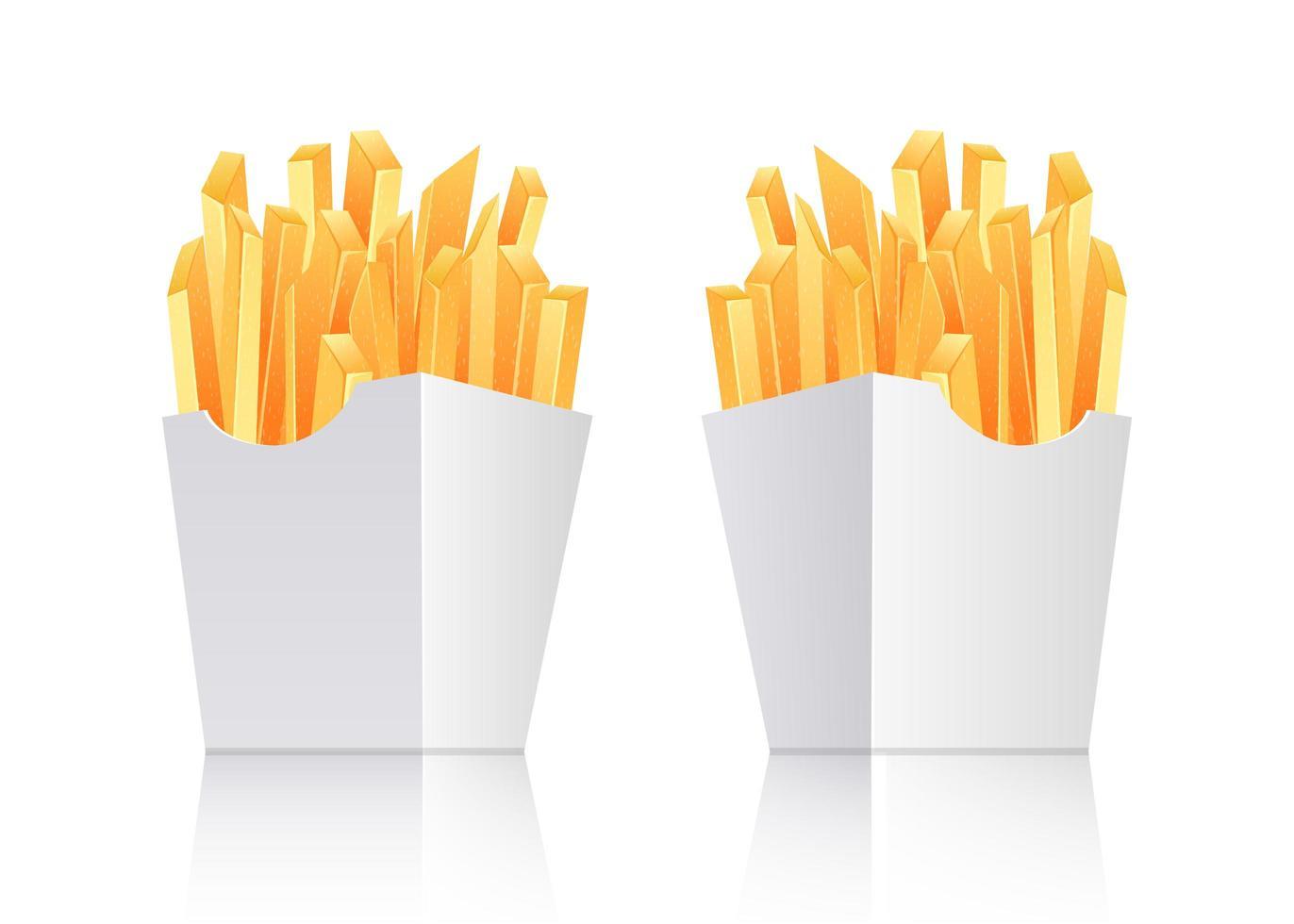 Franse frietjes geïsoleerd vector