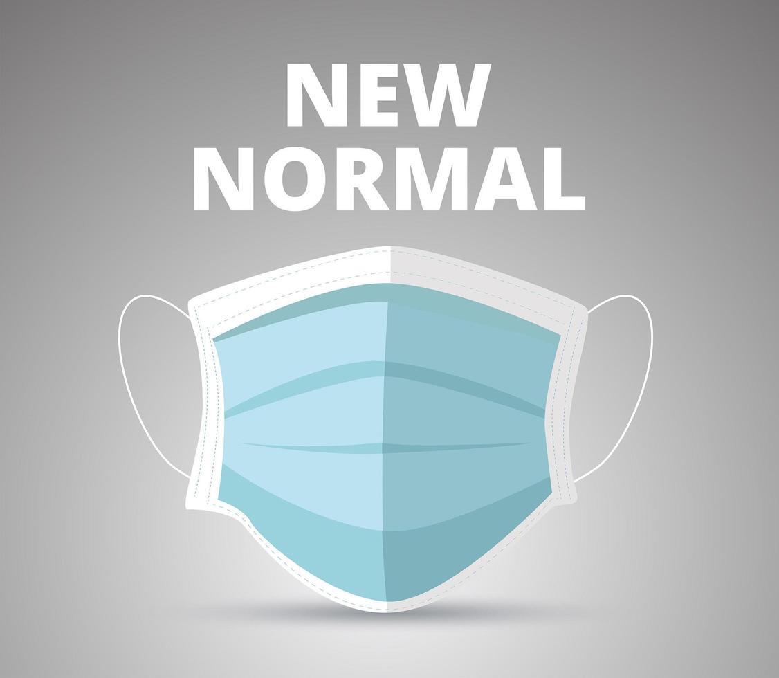 nieuw normaal medisch masker vector