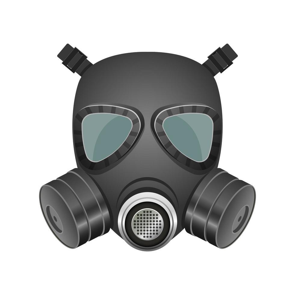 zwart gasmasker geïsoleerd vector