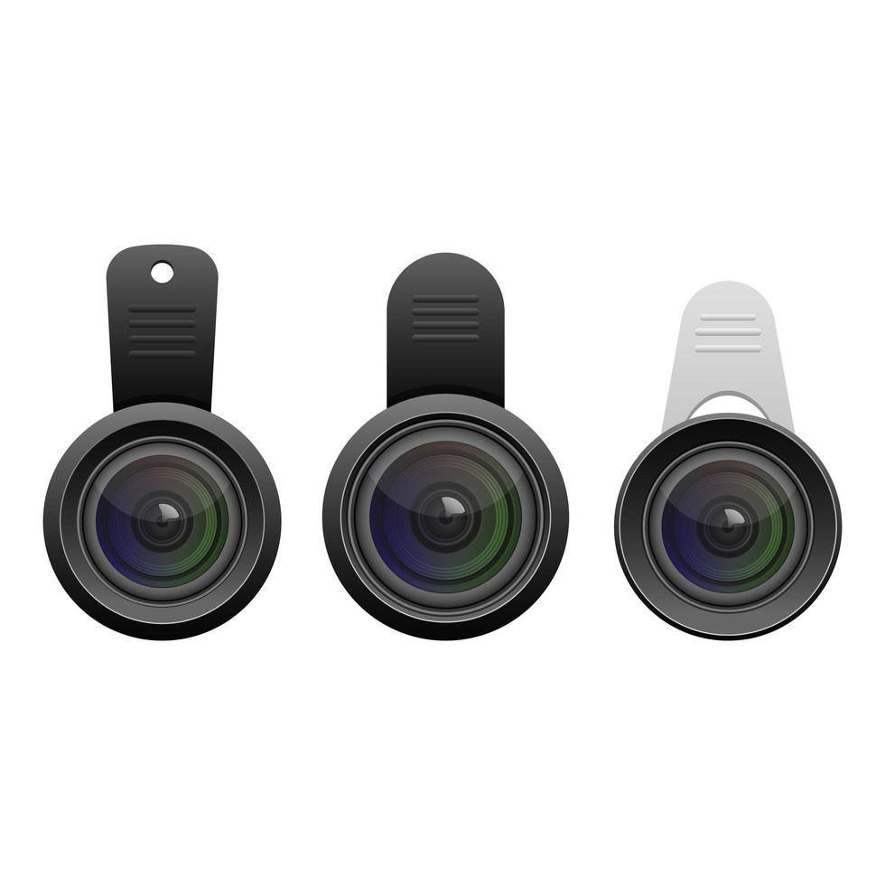 smartphone lens geïsoleerd vector