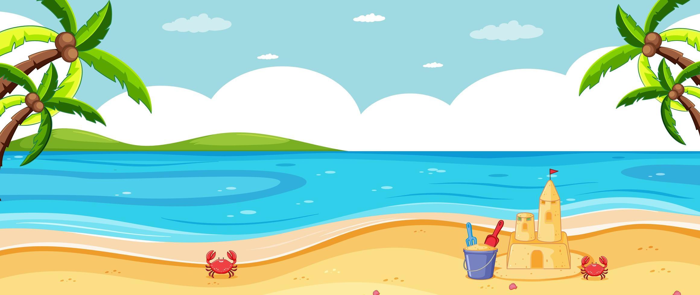 leeg tropisch strandlandschap vector