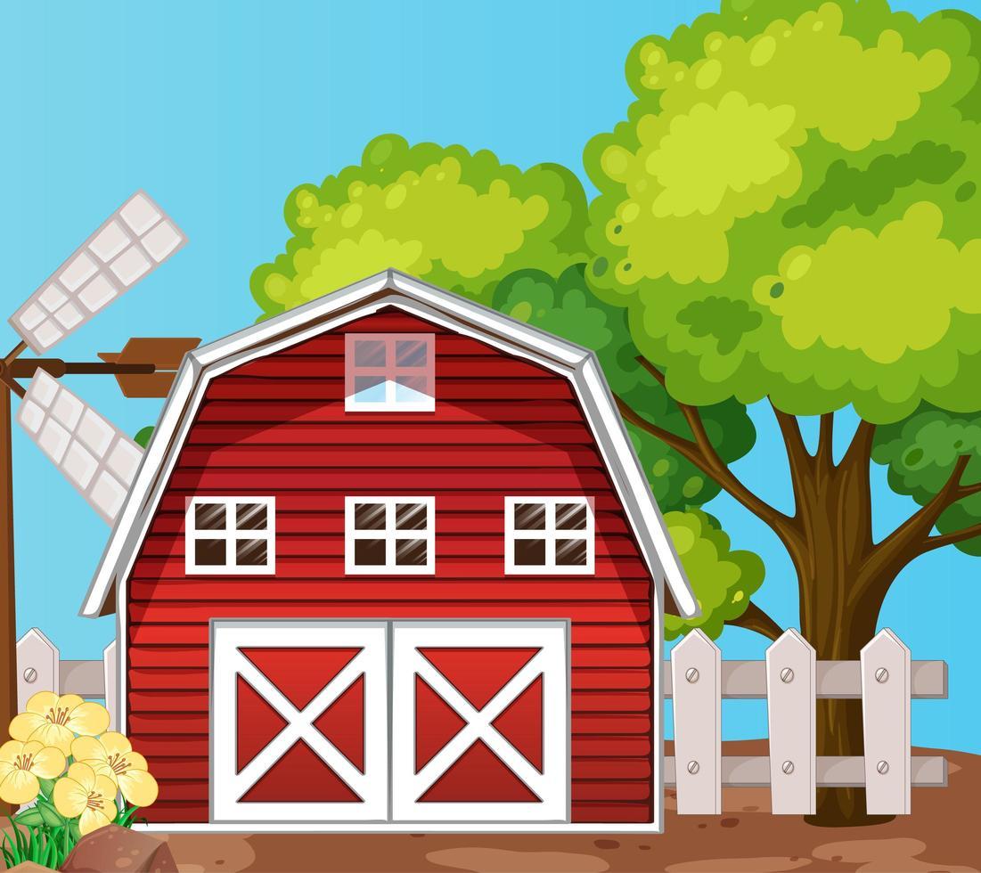 boerderij in de natuurscène vector