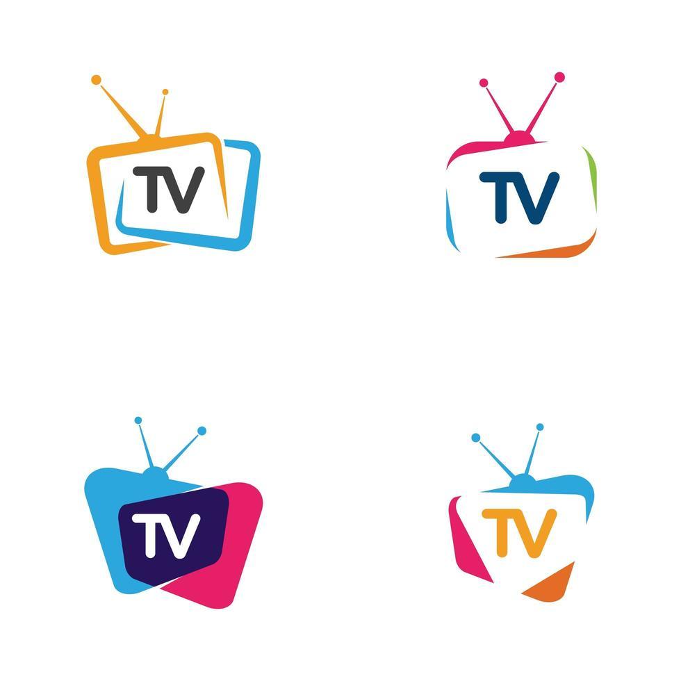 tv pictogram logo set 1268892 - Download Free Vectors, Vector Bestanden,  Ontwerpen Templates