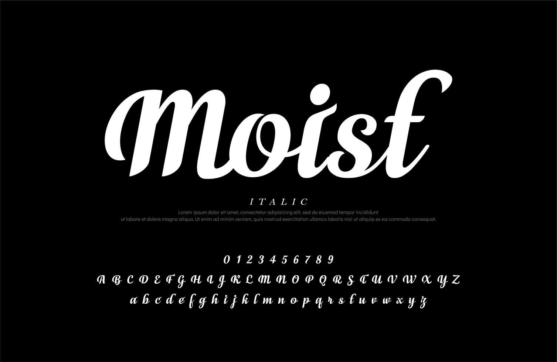 elegante witte klassieke script alfabet letters set vector