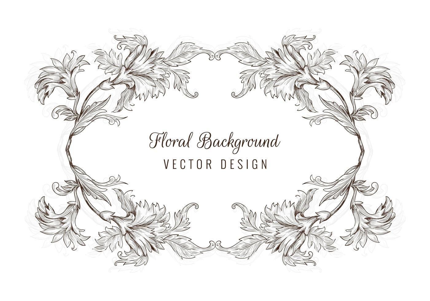 artistieke decoratieve schets floral frame vector