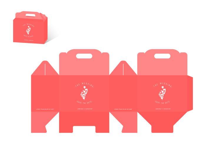 Die Cut Bruiloft Souvenir Box vector