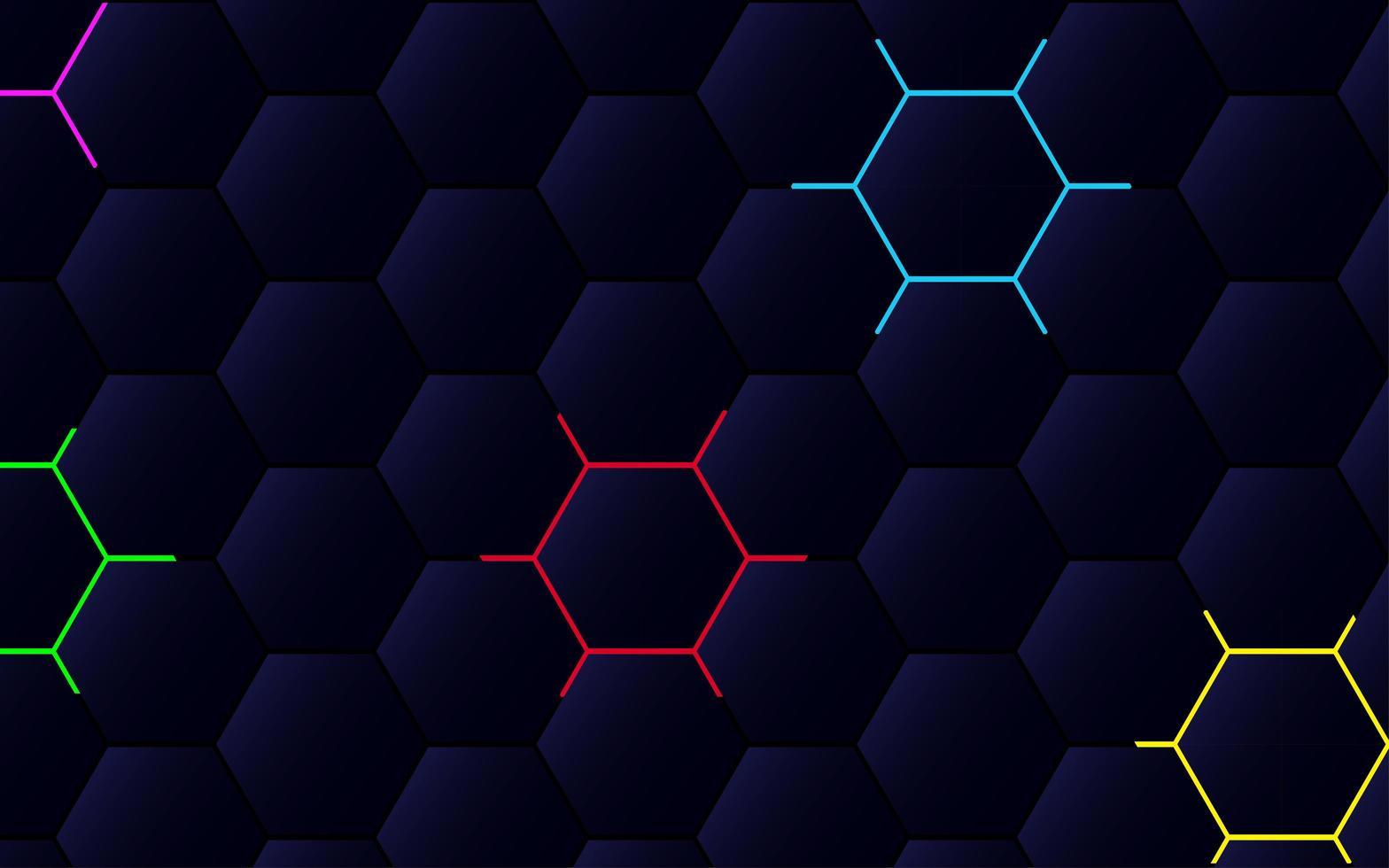 modern veelhoekig abstract patroon met kleurrijke lijnen vector