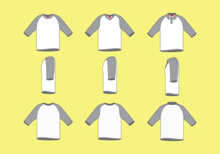Mannen raglan t-shirt vector