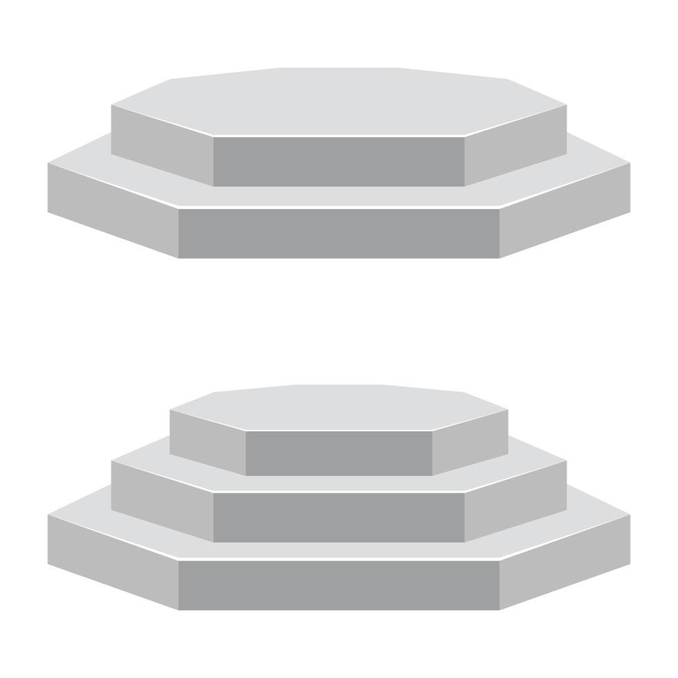 podium geïsoleerd op wit vector