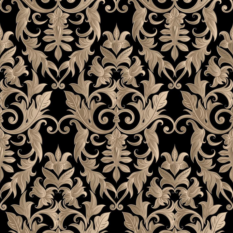 damast gouden patroon vector