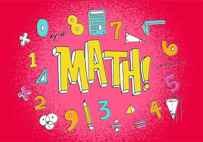 Kleurrijke Math Icons vector
