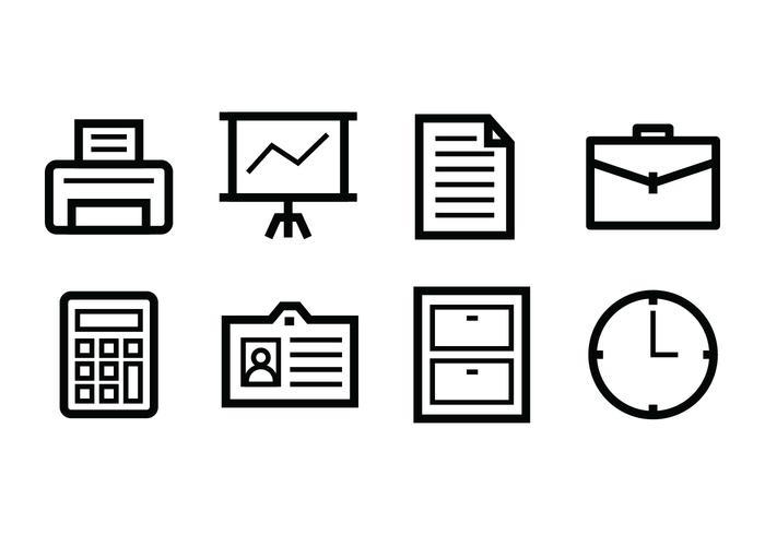 Gratis Office Icon Set vector