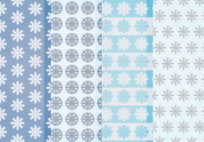 Vector Sneeuwvlokkenpatronen