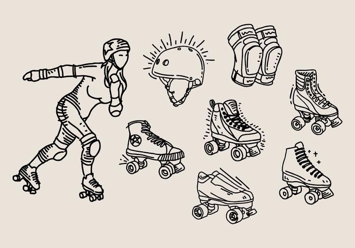 Roller derby icoon vector