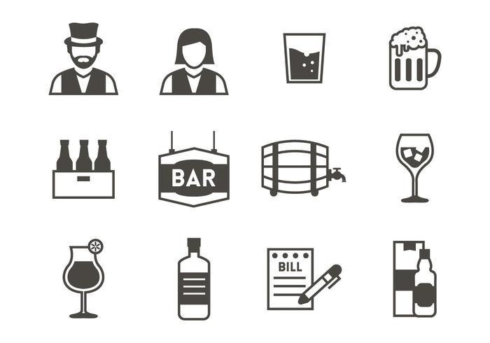 Gratis Bar Icons Vector