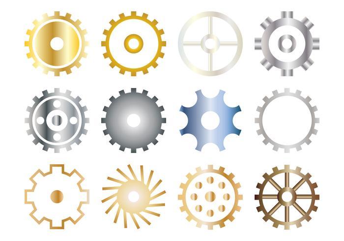 Gratis Gears Icon Vector