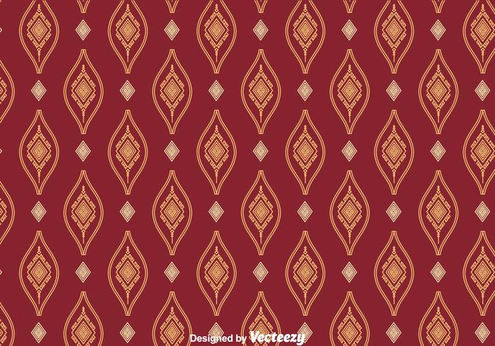 Songket Ornament Naadloze Patroon Vector