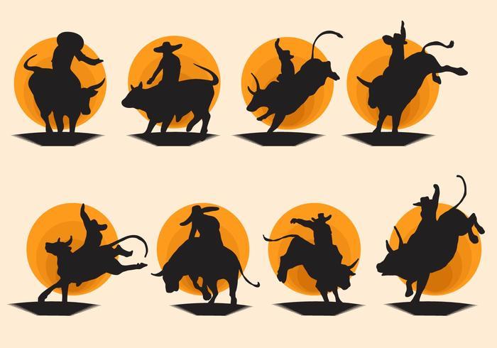 Gratis Bull Rider Vector