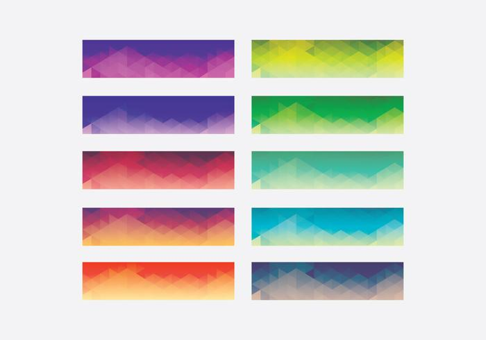 Webkit Lineaire Gradient Top Template Set vector