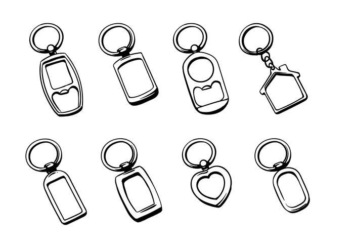 Zilveren Sleutelhanger Vectoren