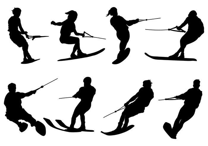 Gratis Water Skiing Pictogrammen Vector
