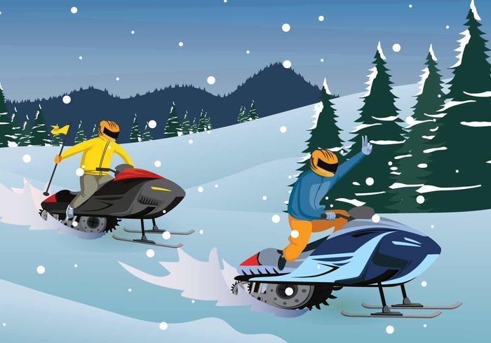 Gratis Sneeuwscooter Illustratie vector