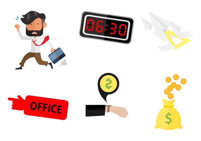 Vrije zakenman loopt naar het werk vector