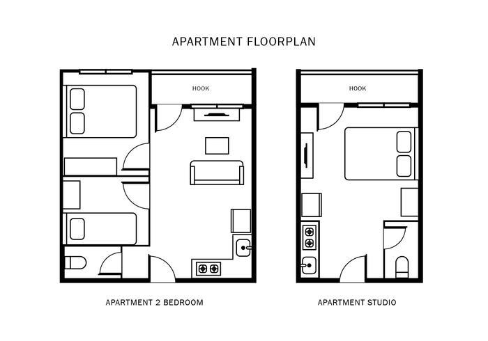 Appartement Vloerplan vector