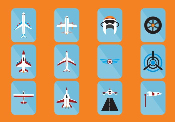 Vliegtuigen Pictogram vector