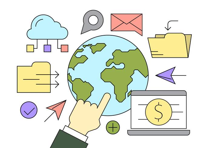 Gratis Global Business Icons vector