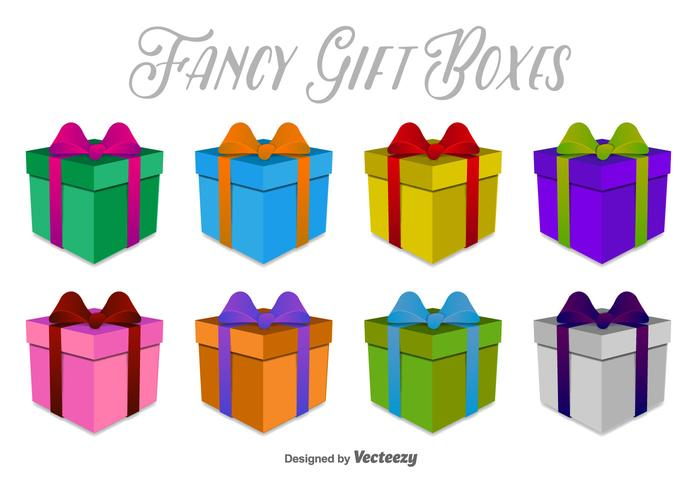 3D Gift Boxes Vector Pictogrammen