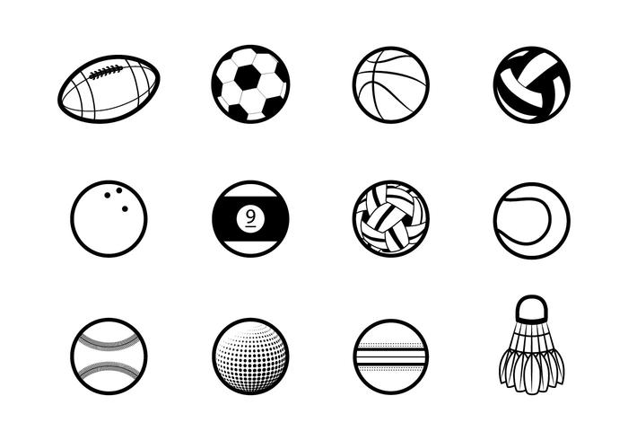 Ballen icoon vector