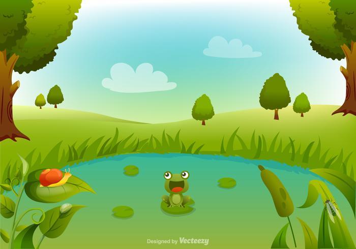 Gratis Swamp Cartoon Vector Achtergrond