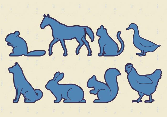 Dieren Huisdieren Vector