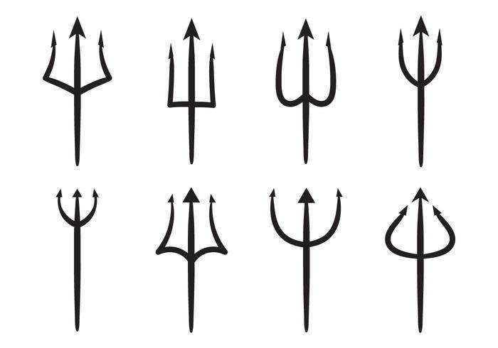 Gratis Trident of Poseidon Vector