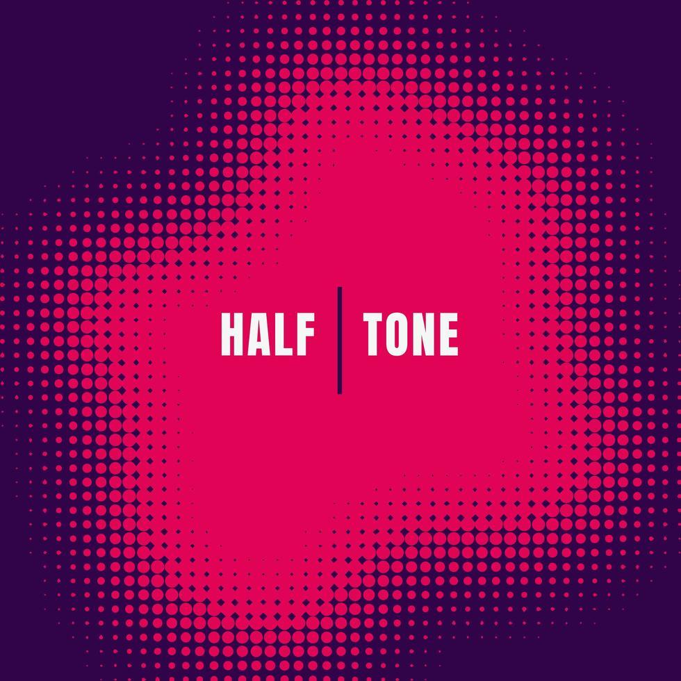 abstracte roze halftone effect textuur op paarse achtergrond vector