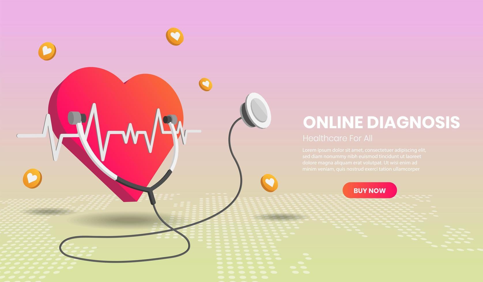 online diagnose concept bestemmingspagina vector