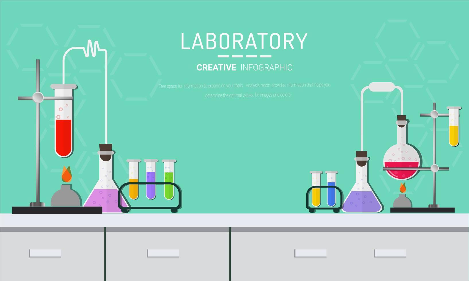 chemisch laboratorium concept vector