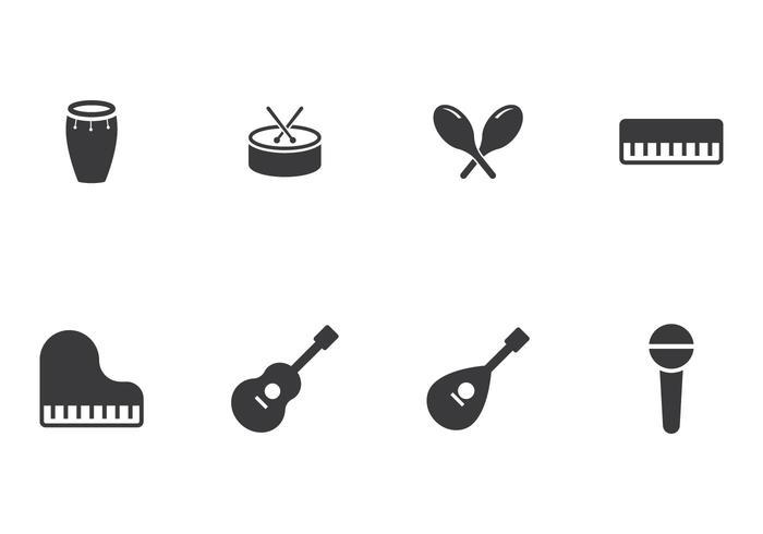 Muziekinstrument icoon vector